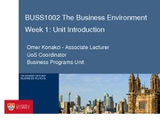W1 BUSS1002 Introduction 2014 S1 week 1