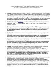 6 Federalism Principle and Limited, Enumerated Powers of Government Questions.doc