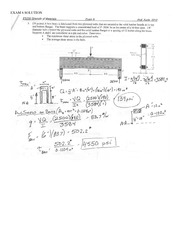 Sample-Exam-6-_2013_-Solution on Strength of Materials