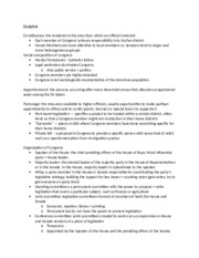 Poli Sci Study Guide -Congress