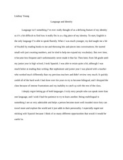 Rhetoric I Language and Identity Essay