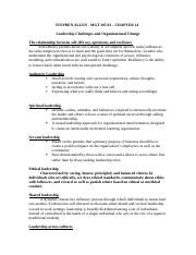 revised organizational behavior CH 14 SG ANSWERED copy.docx