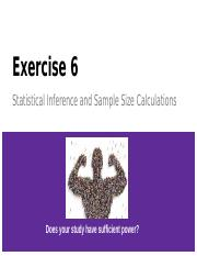 Lab 6 Statistical Inference and Sample Size Calculations - Student.pptx