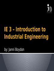 IE 3 Meeting 2 - Introduction to Industrial Engineering.pptx