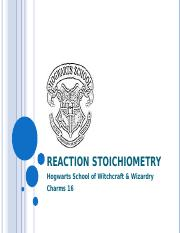 Reaction Stoichiometry.ppt