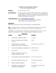 Syllabus for Income Tax Accounting Fall 2012