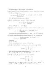 Probability and statistics 1