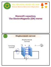 Lecture 3 - ElectroMagnetic Field and Waves (2 slides per page)
