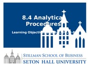 Lesson 8.4 Analytical Procedures