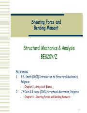Topic6 - Shear force and Bending moment