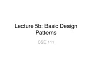 Lecture 5b Basic Design Patterns