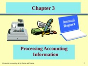 CHAPTER 3 PROCESSING OF ACCOUNTING INFORMATION