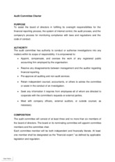Audit Committee Charter Sample