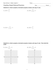 worksheet by kuta software llc 7 f x 3 x 1 x y 8 6 4 2 2 4 6 8 8 6 4 2 2 4 6 8 - Graphing Rational Functions Worksheet