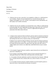 Sociology of deviance hw 9-13-13