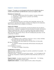 Exam 2 - Study Guide (Contracts)
