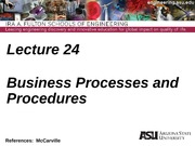 Lecture 24dm Business Processes and Procedures(1)