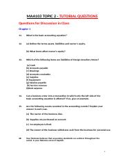 Topic 2 - Tutorial Questions Amended Trimester 1, 2016 (Use This)
