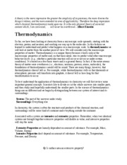 Lecture Note - Thermodynamics