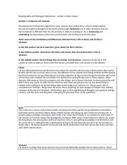 Reading Skills and Strategies Worksheet Compare and Contrast .1.docx