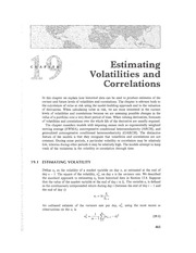 Chapter 19 Lecture on Volatility Estimation
