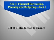 Session 4-Forecasting & cash budgets