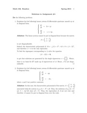 MATH 102 Spring 2015 Assignment 4 Solutions