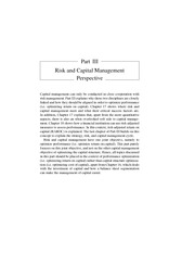 PART III   RISK AND CAPITAL MANAGEMENT PERSPECTIVE