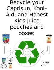 Recycle here flyer