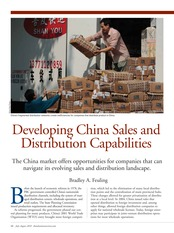 Week 7-Developing China Sales and Distribution Capabilities