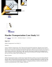 Hardee Transportation Case Study 5-1 - Term Papers.html