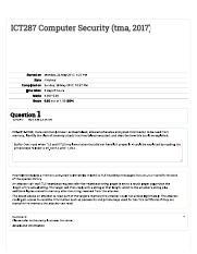 ICT 287 : Computer Security - Murdoch - Course Hero