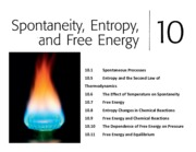 Ch 9 - Spontaneity, Entropy, and Free Energy