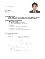 Ron_JoseStudent-Resume-and-Application-Letter
