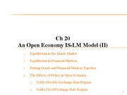 Lecture 22 - Chapter 20 An Open Economy IS-LM Model II