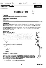 PHYS 1092 Reaction Time