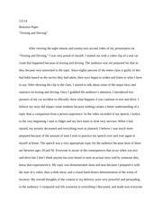 reaction paper on Texting
