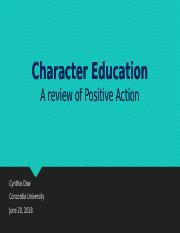 Cynthia_Dow_Character_Education_Program_Analysis_Week 2.pptx