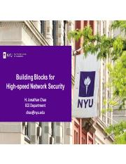 12-building blocks for high speed security