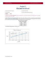 Project 1 Pre-Lab Worksheet  v1.1