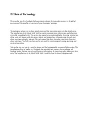 D2 Role of Technology