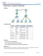 complete 5.3.2.8 Packet Tracer - Examine the ARP Table.docx