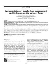 Implementation of supply chain management and its impact on the value of firms.pdf