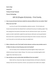 LM 10 (Chapter 8) Activity – First Family