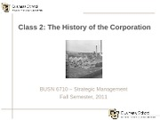Class 2 - The History of the Corporation