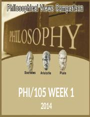 PHI105-Philisophical Views Comparison - Week 1.pptx