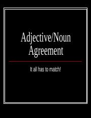 NOUN-ADJECTIVE_AGREEMENT