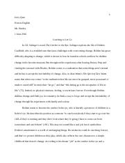 the catcher in the rye documents course hero the catcher in the rye essay