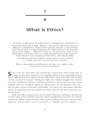 Pojman, What is Ethics
