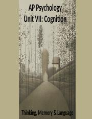 Unit 7 Cognition